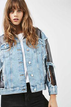 8aebe70c8f4 MOTO Organza Denim Jacket - Jackets & Coats - Clothing - Topshop Europe  Denim Outfit,