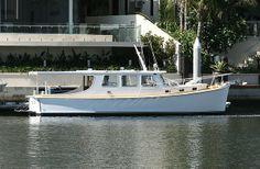John Silver - 35' Millkraft 1 Classic Wooden Boats, Cabin Cruiser, Boat Design, Sport Fishing, Power Boats, Boat Building, Sailboats, Water Crafts, Yachts