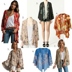 How to wear a kimono jacket.