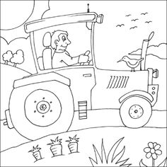 free farm coloring pages farm_coloring_pages33gif - John Deere Combine Coloring Pages