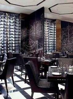 yabu pushelberg - black & white restaurant done right!