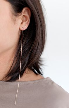 long chain earring
