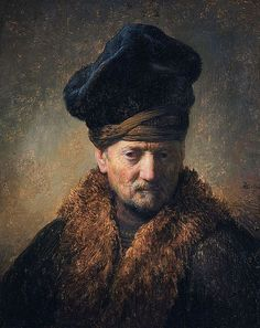 Bust of an Old Man Wearing a Fur Cap (1629) Rembrandt