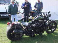 The most bad ass survival bike ever. It's a diesel!    http://en.wikipedia.org/wiki/File:Aa_dieselmotorcycle_astlepark_00.jpg