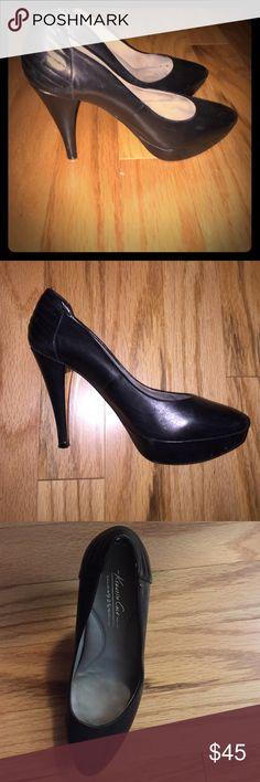 Kenneth Cole Platform black heels barely worn. Comfortable Kenneth Cole black high heels. With heel grips Kenneth Cole Shoes Heels