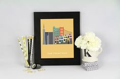San Francisco City Print: California  Modern Art by MKKMDesigns