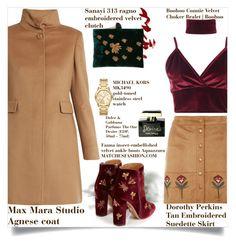 """CoatMeUp"" by fashionaddict-il ❤ liked on Polyvore featuring MaxMara, Dorothy Perkins, Boohoo, Sanayi 313, Aquazzura, Michael Kors and Dolce&Gabbana"