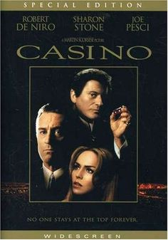 An original, rolled, double-sided one-sheet movie poster x from 1995 for Casino with Robert De Niro, Sharon Stone, and Joe Pesci. Directed by Martin Scorsese. Martin Scorsese, Film Gif, Film Serie, See Movie, Movie Tv, Epic Movie, Movie Theater, Film Casino, Casino Games