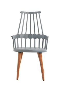 New interpretation of the Windsor chair: Patricia Urquiola's 'Comeback' chair in grey, London Design