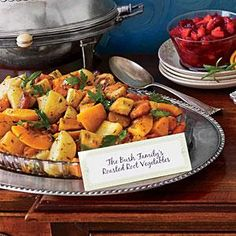 """A dear friend and great chef, Matthew Wendell, made these rustic vegetables for us while we lived in the White House. They have become a staple at our Thanksgiving because of the simplicity and purity of the dish."" --Editor-at-large Jenna Bush Hager"