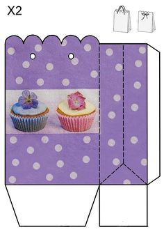 Purple mini cupcake bag JB