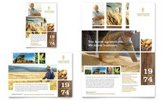 Farming and Agriculture Flyer and Ad Design Template by StockLayouts