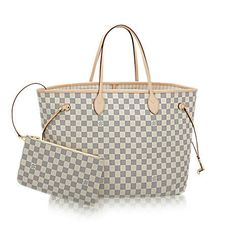 fa7e54ce59 Louis Vuitton Damier Azur Canvas Neverfull GM Rose Ballerine Neverfull:  always exactly what you need it to be. Capacious but not bulky, structured  yet ...