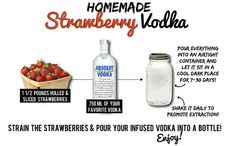 mix 2 shots of homemade strawberry vodka w/ 8 oz of lemonade & you have one AMAZING summer drink