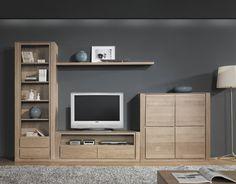 COMPOSICION MODULAR FOREST MODELO 24 Curio Cabinet Decor, Tv Cabinet Design, Tv Stand Modern Design, Tv Stand Designs, Tv Unit Furniture, Modern Tv Wall Units, Living Room Tv Unit, Tv Wall Decor, Bedroom Closet Design