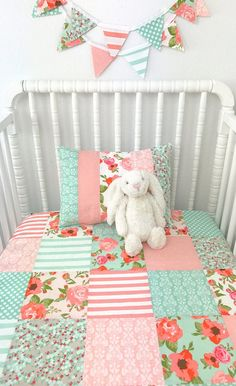 Baby Girl Blanket Minky Blanket Crib Bedding Shabby Chic