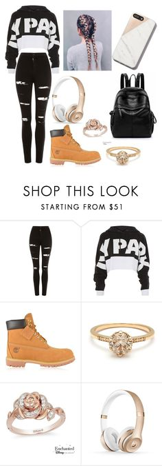 """Untitled #121"" by tvzylz on Polyvore featuring Topshop, Timberland and Disney"