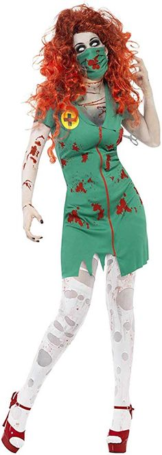 2019 Smiffys Women's Zombie Scrub Nurse Costume and more Women's Halloween Costumes, Zombie Costumes for Women for Zombie Costume Women, Zombie Halloween Costumes, Nurse Costume, Costumes For Women, Halloween 2017, Halloween Makeup, Happy Halloween, New Hair Colors, Scrubs