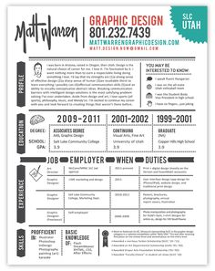 54 Best Graphic Designer Resume Images On Pinterest Page Layout