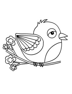 Canary Bird Begin To Fly Coloring Pages Best Place To Color - Coloring Page Ideas Bird Coloring Pages, Coloring Pages For Kids, Canary Birds, Visual Learning, Online Coloring, To Color, Minions, Elephant, Graphics