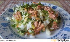 Pikantní zeleninový salát s rýží a tuńákem Asparagus, Potato Salad, Salads, Potatoes, Chicken, Meat, Vegetables, Ethnic Recipes, Food