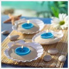 Table decor beach wedding Sand N Sea Properties LLC