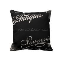 Vintage Typography Pillows