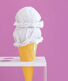 Paper construction of ice cream by Matthew Sporzynski
