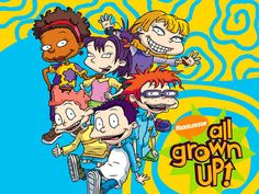 All Grown Up! is an American animated Cartoon television series. All Grown Up how's premise is that the characters of the Rugrats are nine. Nickelodeon Cartoon Characters, Old Nickelodeon Shows, Cartoon Tv Shows, 90s Cartoons, Random Cartoons, Childhood Tv Shows, Childhood Memories, Rugrats All Grown Up, Old Disney