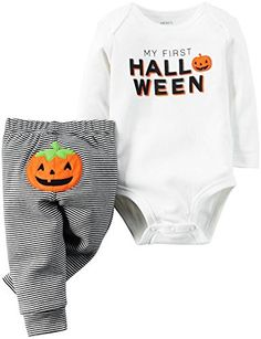 online shopping for Carters Unisex Baby My First Halloween Bodysuit & Pant Set White from top store. See new offer for Carters Unisex Baby My First Halloween Bodysuit & Pant Set White Carters Halloween, Baby First Halloween, Carters Baby Clothes, Carters Baby Boys, Baby Kids Clothes, Infant Boys, Outfits Niños, Kids Outfits, Baby Set