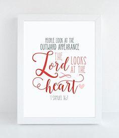 1 Samuel 16:7 Art Print
