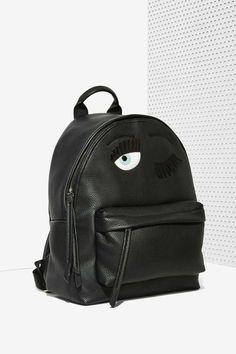 Chiara Ferragni Flirting Leather Backpack - Accessories | Bags + Backpacks