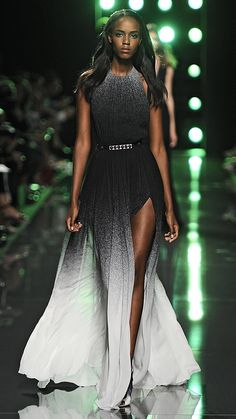 a9fb7341fe7 Elie Saab Spring 2015 is glamorous with a touch of edge... we re obsessed