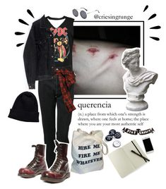 A fashion look from November 2017 featuring off-shoulder tops, vetements jeans and Faith Connexion. Browse and shop related looks. Punk Outfits, Grunge Outfits, Grunge Fashion, Cool Outfits, Fashion Outfits, Stylish Outfits, Grunge Look, Soft Grunge, Alternative Outfits