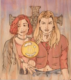 "Willow + Tara by Crystal-Cat ... must dig into my comics collection for ""wannablessedbe"""