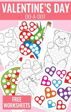 Valentines Day Do a Dot Printables - Free Do a Dot Worksheets