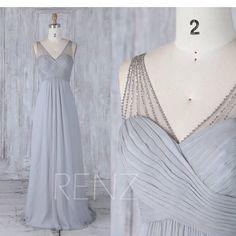 Hey, I found this really awesome Etsy listing at https://www.etsy.com/listing/525250111/bridesmaid-dress-medium-gray-chiffon