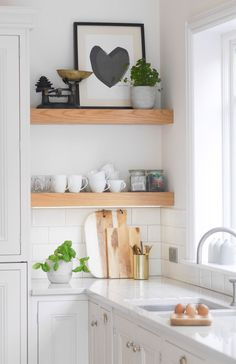 Claire's Bright White Kitchen And Scandi Dining - Image By 45+ Most Popular Kitchen Design Ideas on 2018 & How to Remodeling #kitchenideas #smallkitchenideas #kitchencabinet