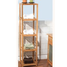 Simple Living Bamboo 5-tier Shelf - Overstock™ Shopping - Great Deals on Simple Living Bathroom Shelving