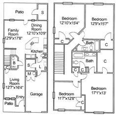 Upper Floor Plan for 10118 Narrow lot house plans affordable
