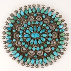1950s Turquoise Cluster Pin