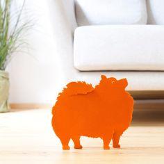 Objetos de decoración Pomeranian de el león