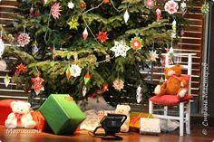 Кусудама Новый год Оригами Елка украшенная оригами-декором Бумага фото 6