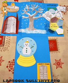 A Scuola con Poldo: Un lapbook sull'inverno Winter Activities, Book Activities, Lap Book Templates, D Book, Folder Games, Teaching Materials, Interactive Notebooks, Early Learning, Mini Books