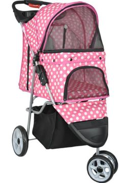 The VIVO Pet Stroller provides first class travel for your lovable pet! Whether you are taking a quick stroll around the block or a jog through the park, this durable 4-wheeled stroller makes for a safe and smooth ride.