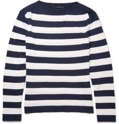 Gucci - Striped Silk and Cotton-Blend Sweater MR PORTER