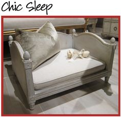 A very chic bed for a small dog!  LOL
