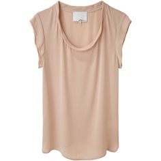 3.1 Phillip Lim Silk Muscle Tee ($98) ❤ liked on Polyvore