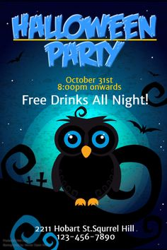Halloween Party Flyer Social Media Post Template Templates