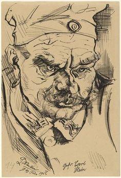 Soldier Karl Stein, 1917, by Ludwig Meidner. Museum of Modern Art